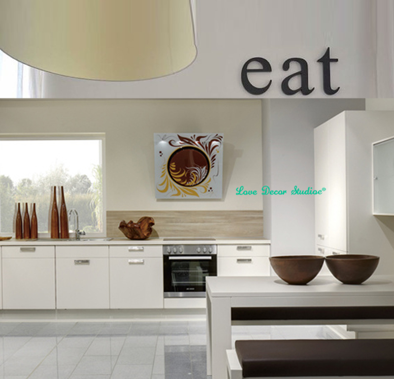 Buy kitchen decor wooden letters eat for Kitchen letters decoration
