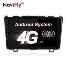 """NaviFly 9 """"Android 7.1 di gps Radio di navigazione per auto multimedia player per Honda CR-V CRV 2007 2008 2009 2010 2011 con WIFI BT"""