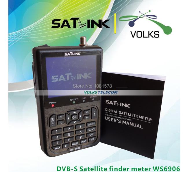 "Original Satlink WS-6906 3.5 "" DVB-S FTA digital medidor de satélite Satlink"