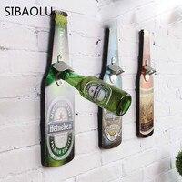 Piwo W Kształcie Draperie Kreatywnych Retro Ściany Sody Otwieracz do butelek Piwa Otwieracz Do Wina Otwieracz do butelek Rocznika Ścianie Zamontowany Drewna