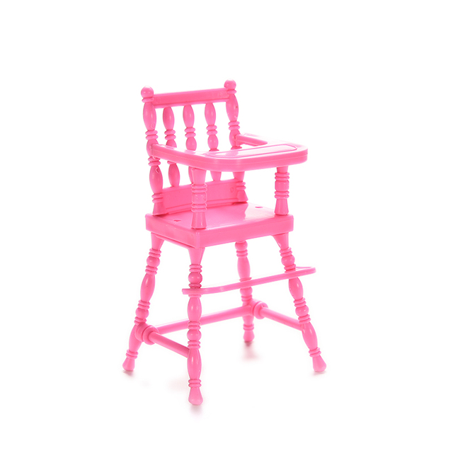 Children Pink Nursery Baby High Chair for Girl Doll\u0027s House Girls Doll Furniture Accessories Toy