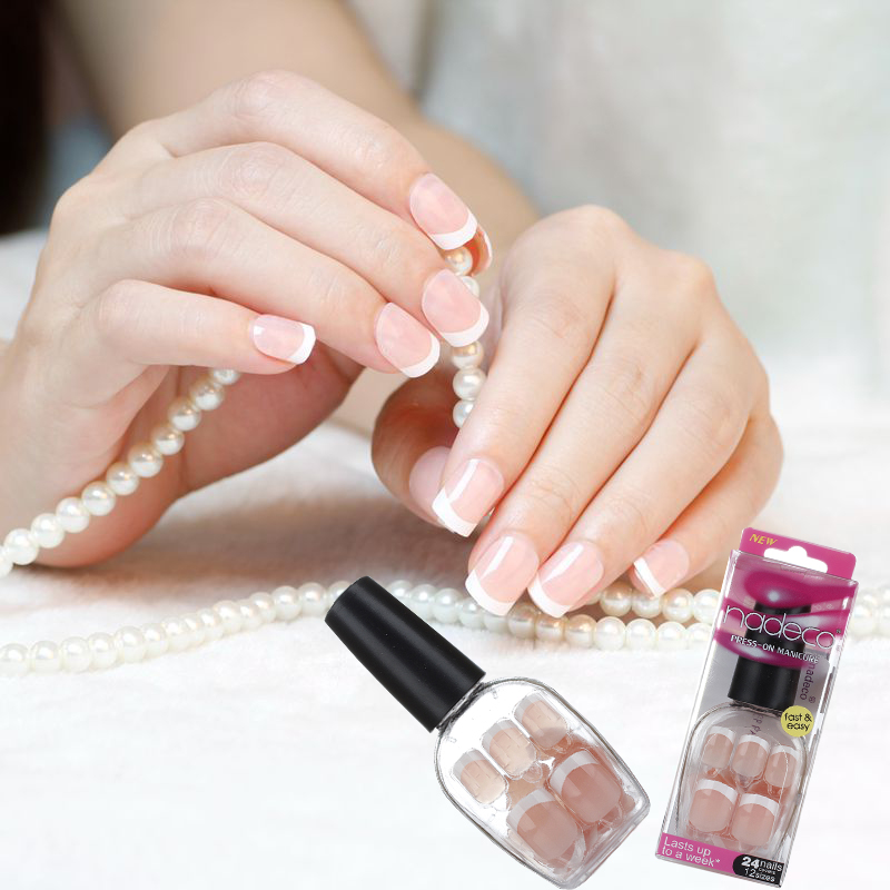 False Nails French Manicure press on nail-in False Nails from Beauty ...