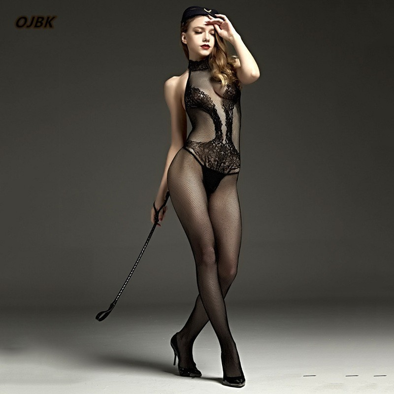 Erotic Lingerie For Women Sex Underwear Porn Babydoll Dress Hot Lace Mesh Open Crotch Costume Stocking suit Nuisette Sexy Teddy 1
