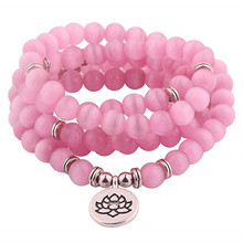 цена 108 Wrap Labradorite with Charm Bracelet or Necklace Natural stone jewelry dropshipping в интернет-магазинах