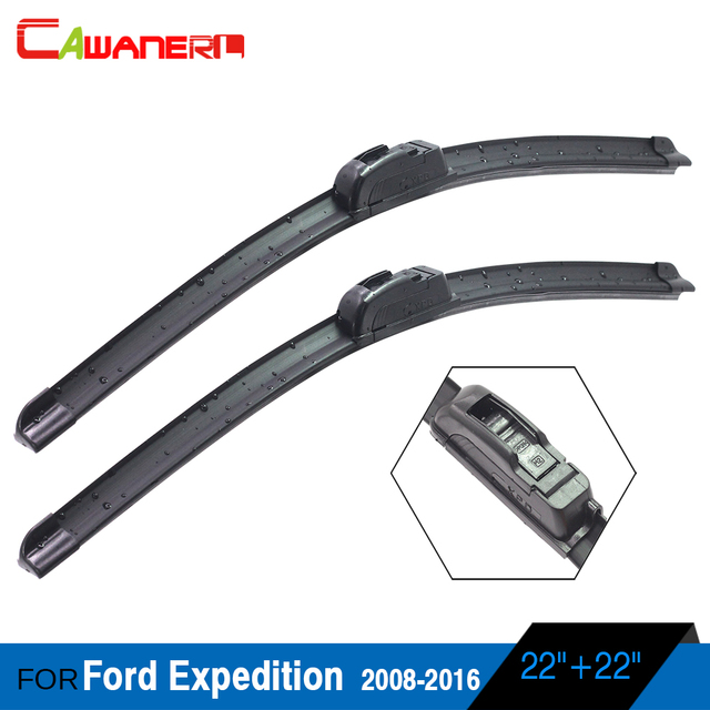 Car Soft Rubber Windshield Wiper For Ford Explorer 2002 2004 2 Pieces Vehicle Frameless Window Blade High Quality