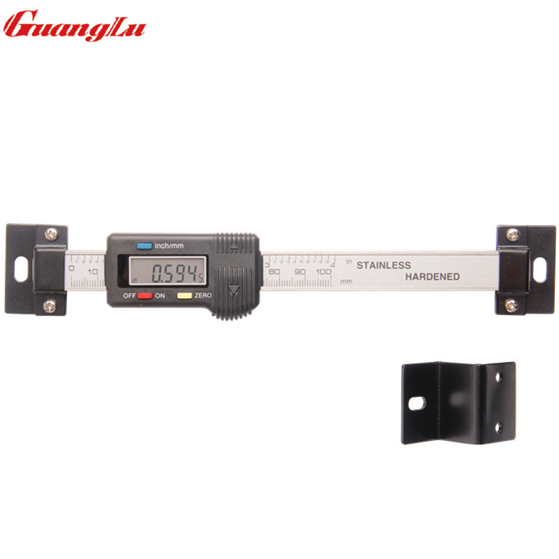 GUANGLU Digital Scale Unit Horizontal Type 0-100mm  Stainless Steel LCD Display Inch/MM Machinist Tools