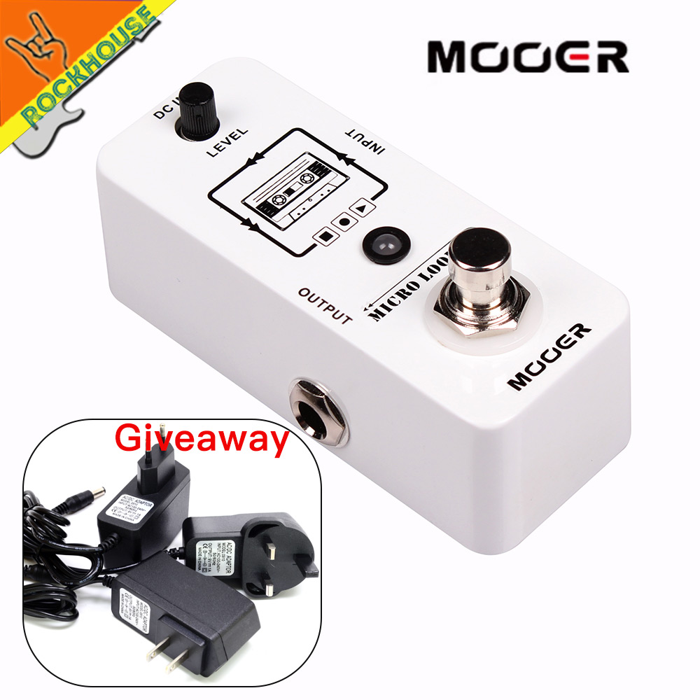 MOOER Micro Looper Guitar Loop Pedal 30 minutes looping Time and Infinite Overdubbing Recording time True bypass Free Shipping hand made loop electric guitar effect pedal looper true bypass 3 looper switcher guitar pedal hr 1