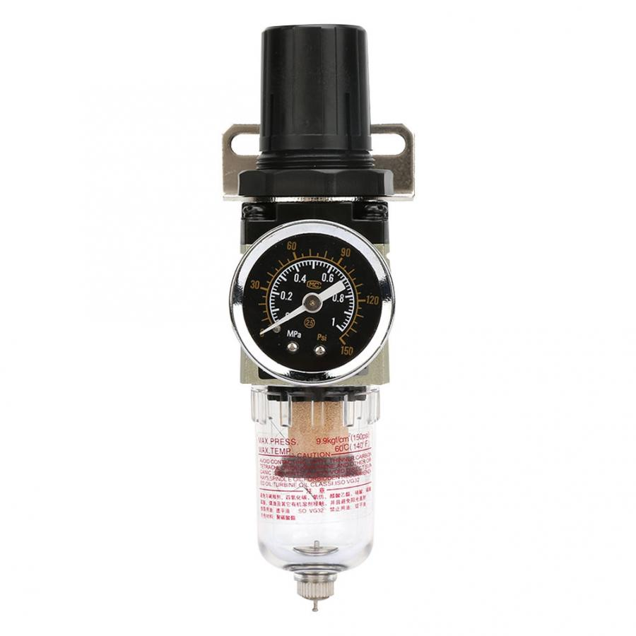 valvula neumatico G1/4 Aluminum Alloy Air Source Treatment Pressure Regulating Filter Regulator AW3000-02 pressure switch air