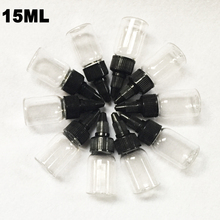 Hot 15ml Tattoo Supplies Plastic Tattoo Ink  Bottles 10pcs/lot Clear White Free Shipping
