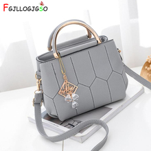 FGJLLOGJGSO brand women crysta embroidery totes sequined pendant handbag Hot party purse lady messenger crossbody shoulder bags new 2018 floral embroidery women bags hot england style multi use lady shoulder
