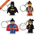 New Bags Accessories 40PCS Hot Lego Movie Super Heroes PVC Keyrings Cartoon Keychains Necklace Mobile Phone Pendents Charms