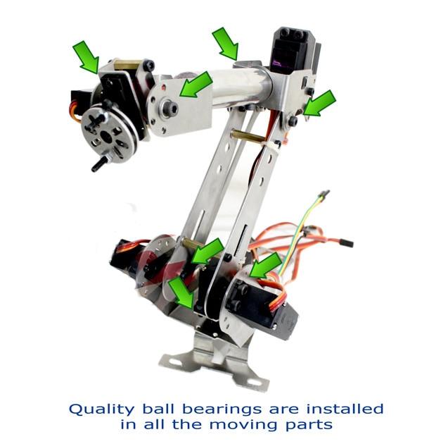 6DOF bras robotique acier inoxydable 6 axes pince rotative mécanique pour Arduino framboise