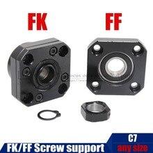 FK FF винт Поддержка FK12/10/15/17/20/25/30 FF12 для RM1204 SFU1605 sfu2005 шарикового винта Поддержка для станков с ЧПУ