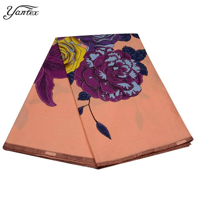 YANTEX New Hot Selling African Print Fabric Java Print Pagne African Super Wax Hollandais Ankara Fabric 6 Yards/Piece Tissu