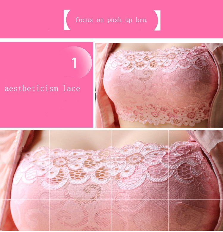 new fashion women push up bra female underwear sexy bras for women lace thick cup brassiere Gather bralette lingerie 3