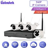 Lintratek CCTV полный комплект 960HD Wi Fi Камера наблюдения 4CH HDMI NVR открытый Водонепроницаемый Пуля Cam Ночное видение монитор 1.3MPS20
