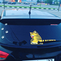 Pegatinas de coches de Dibujos Animados Divertido Gato Cola En Movimiento Reflexivo Pegatinas de Coches Ventana Limpiaparabrisas Parabrisas Trasero Calcomanías Etiqueta Engomada de la Decoración