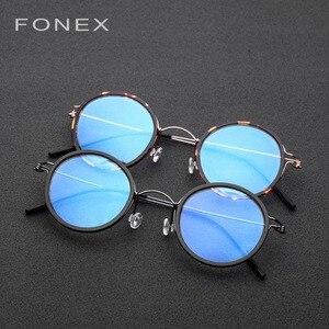 Image 5 - Titanium Alloy Glasses Frame Men Women Myopia Optical Denmark Ultralight Prescription Eyeglasses Korean Screwless Eyewear 98613