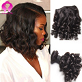 Deep Wave Brazilian Virgin Hair 4 Bundles Rosa Hair Products Curly Brazilian Hair Extensions Short Bob Weave Culrs Fummi Hair