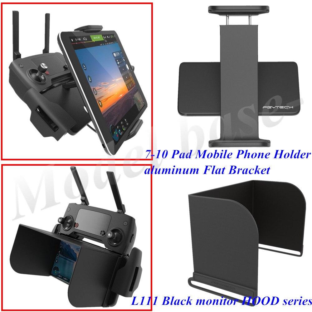 PGYTECH moniteur capot série L111 Noir + télécommande 7-10 Support de Téléphone portable en aluminium Plat Support pour DJI Mavic Pro