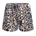 Fashion Summer Leopard Super Soft Shorts Wrinkle Middle Waist Stretchy Woman Loose Breath Women Mini Short Pant Hot Sale D002