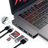 AHHROOU 6 In 1 USB C HUB Card Reader USB Type C Hub OTG Multi USB
