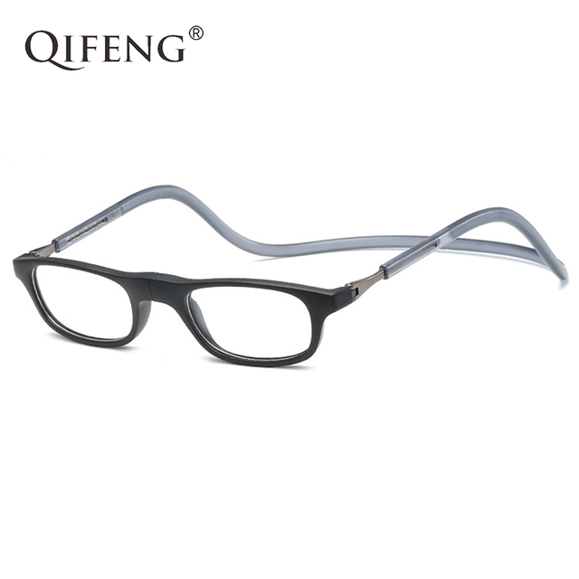 ee6b71a8a1c5 QIFENG Magnetic Reading Glasses Men Women Diopter Presbyopic Male Unisex  Degree Eyeglasses +1.0+1.5