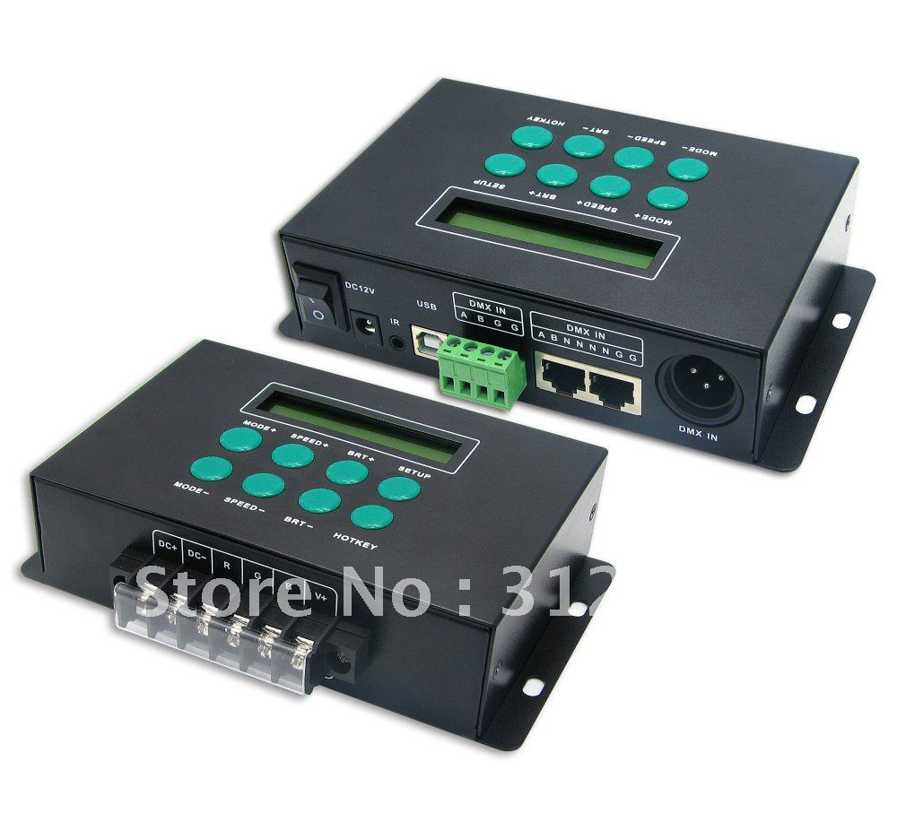 LT-300 RGB/DMX Controller;DMX decoder;DC12-24V input,max 8A*3channel output meco xm l t6 2000lm zoomable led flashlight 18650