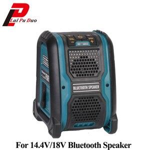 Image 1 - Altavoz MP3 con Bluetooth y batería de ion de litio, amplificador de altavoz, 15W, para Dewalt, Makita, Bosch, Milwaukee, 14,4 V, 18V