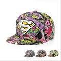 2016 Самый Популярный Бренд Супермен Бэтмен Snapback Caps Мода Хип-Хоп Мужчины Женщины Супермен Плоским Шляпа Бейсболка Козырьком