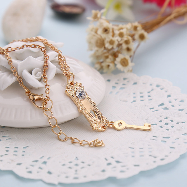Wonderland Necklace Lock and Key
