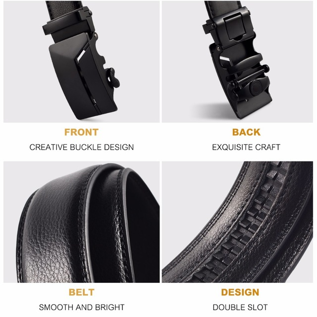 KURAN Designer Luxury Real Leather Men's Belt 5