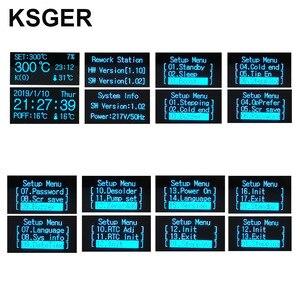 Image 4 - KSGER 2 In 1 T12 STM32 OLED 납땜 스테이션 핫 에어 건 SMD 건조기 디지털 재 작업 디 솔더링 수리 도구 알루미늄 합금 핸들