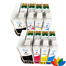 8 Pack T1301 - T1304 Compatible Ink Cartridges For Epson WorkForce WF-7015 WF-7515 WF-7525