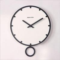 2017 New Wall Clock Brief Needle Quartz Clock Home Decoration Creative Hanging Circular Clock Living Room Decor free shipping
