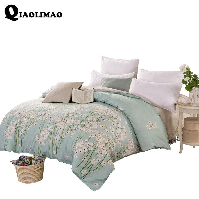160x210cm,180x220cm,200x230cm,220x240cm Duvet Cover With Zipper 100% Cotton Quilt Or Comforter Or Blanket Case Pastoral Printing