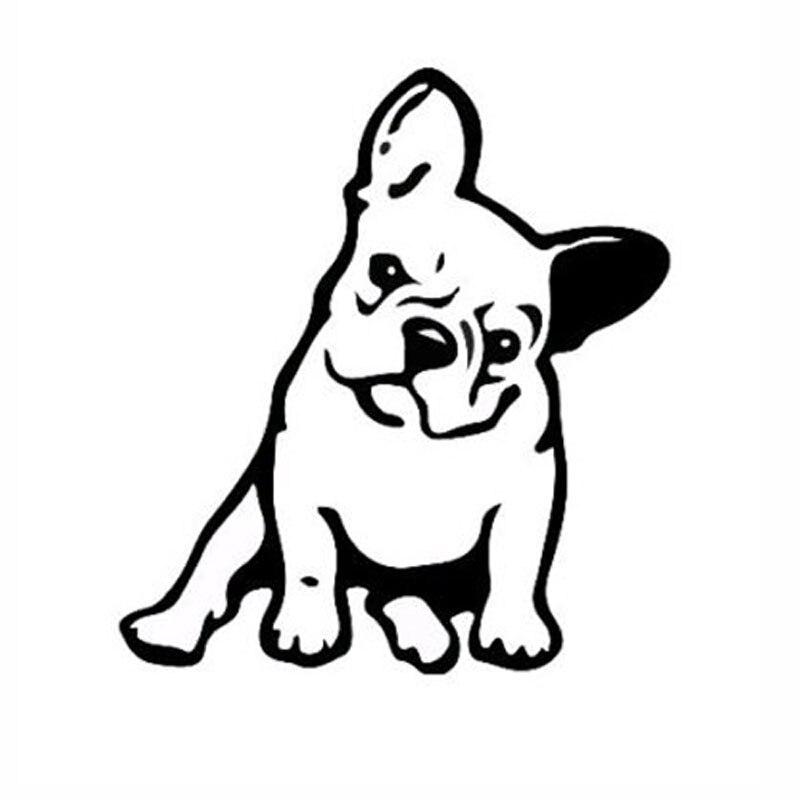 11.5*12.7CM FRENCH BULLDOG Dog Vinyl Decal Window Decoration Lovely Animal Car Sticker Black/Silver C6-1349