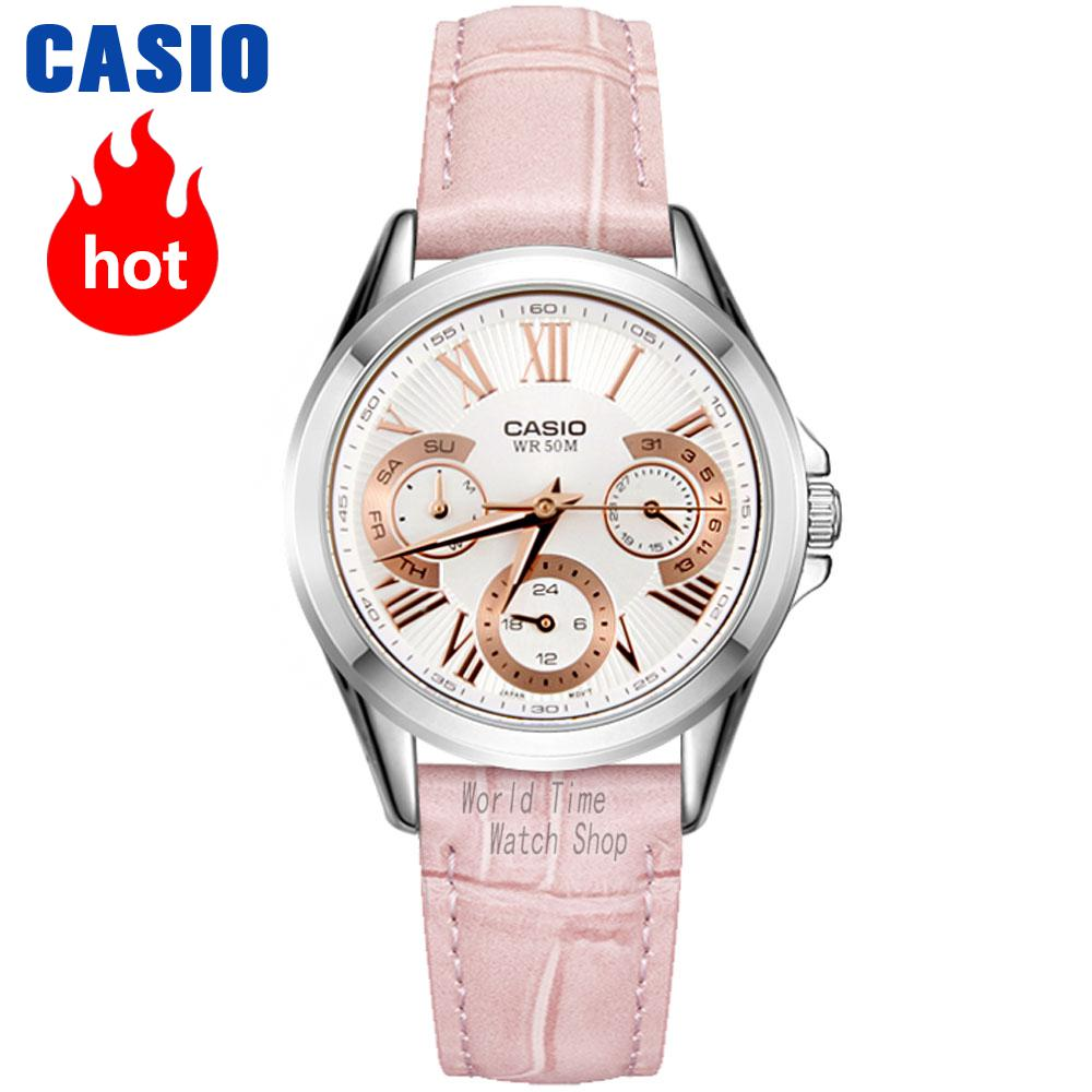 Casio watch Female pointer series fashion quartz female watch LTP-E308D-1A LTP-E308D-7A LTP-E308L-4A часы casio ltp e118g 5a