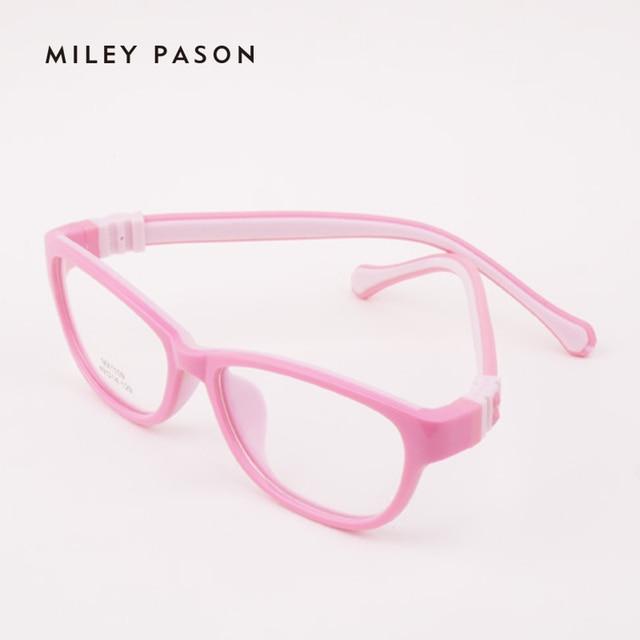 a34b7c9b76 Kids Plastic TR90 ultra-lightweight Flexible Eyeglasses Soft silica gel  Children Cartoon Optical Glasses Frame Prescription 1109