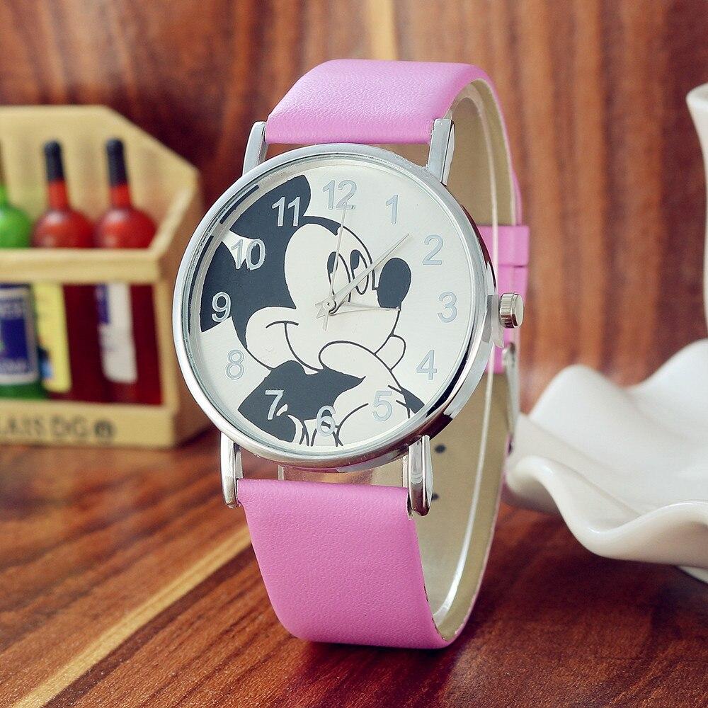Reloj Infantil 3D Mouse Children Watch For Girls Boys Gift Students Clock Fashion Casual Kids Watches Leather Quartz Wristwatch