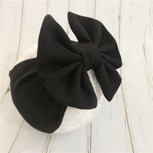 Fabric Elastic Kids Top Knot Girl Hair Band / Adjustable Big Bow Turban Headband Wide Headwrap Hairband Accessories