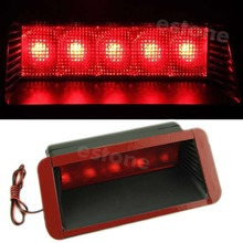 цена на Car Warning 5LED Rear Tail 3rd Brake Stop Light Fog Lamp Red Useful
