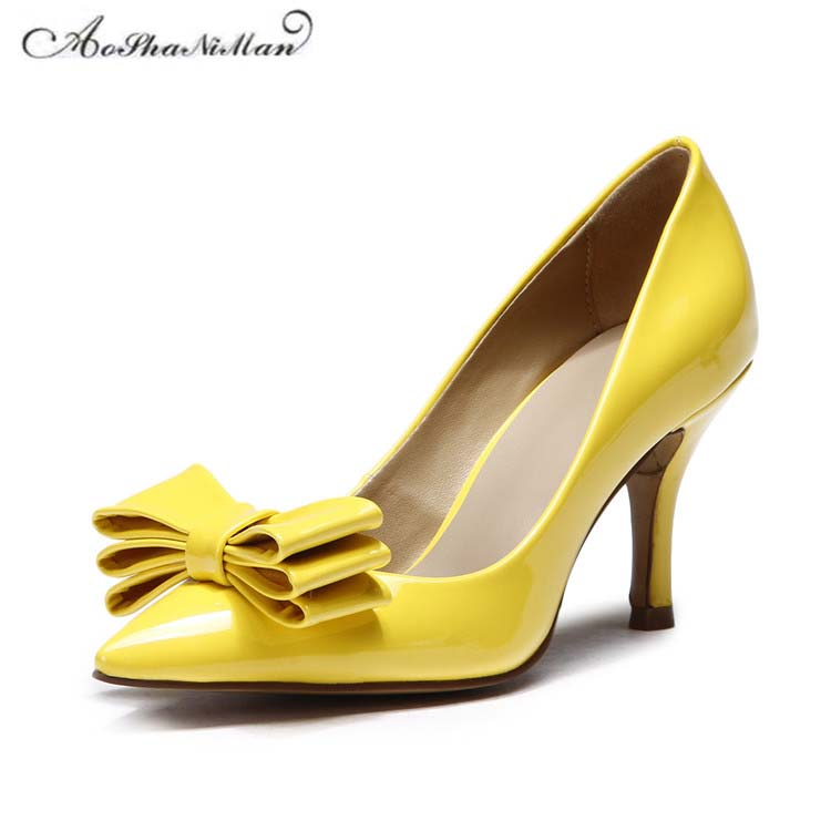 2017 Newest spring women shoes top quality patent leather high heels Fashion ladies pumps for party dress shoes 34-41 newest summer style woman pumps shoes high quality ladies high heels basic shoes for party free shipping size 37 43