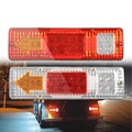 1PCS Trailer Tail Light Waterproof Car Rear Lamp Truck Boat Trailer Plastic Taillight 19 LED 24V LED Rear Lights