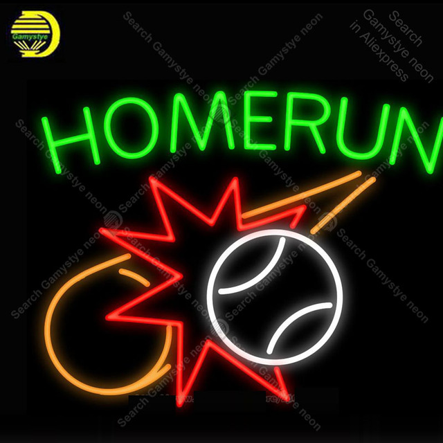NEON SIGN For 2018 Home Run NEON Lamp Star GLASS Tube Decor Sports Room Window Handcraft Advertise anuncio luminoso Dropshipping