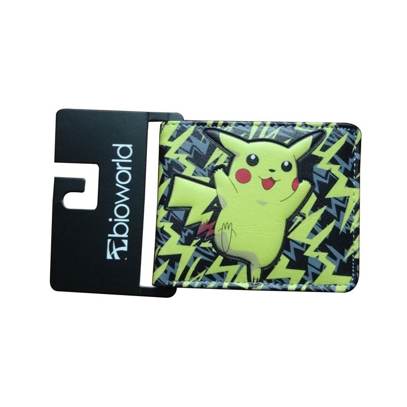 2017 Heißer Pokemon Brieftaschen Anime Cartoon Pikachu Geldbörse Geschenk Kinder Leder Kartenhalter Taschen Männer Frauen Kawaii Pikachu Brieftasche