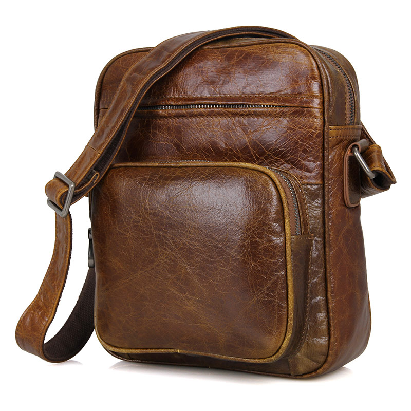 Travel Small Bags for Men Genuine Leather Brand Brown Vintage Crossbody Messenger Shoulder Bag Casual Ipad Mobile Designer Bag табличка на стол магистр черной и белой бухгалтерии