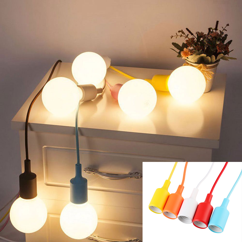 1 STÜCK E27 Lampenfassung Halter Led lampe Basis Silikon Farbigen ...