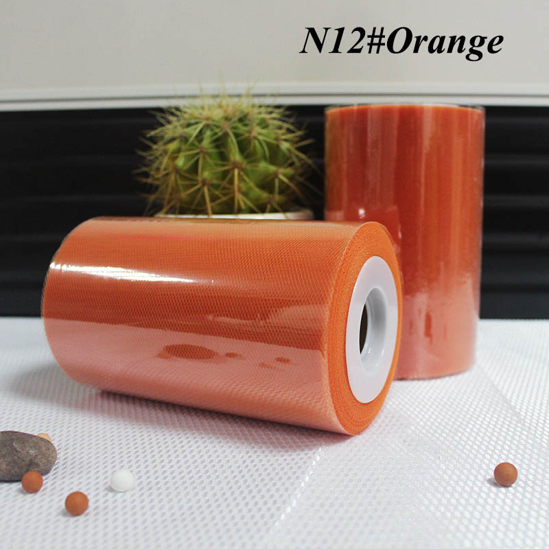 6 inch x 25 yard roll 1 roll INVENTORY CLEARANCE SALE Melon Light Orange Tulle