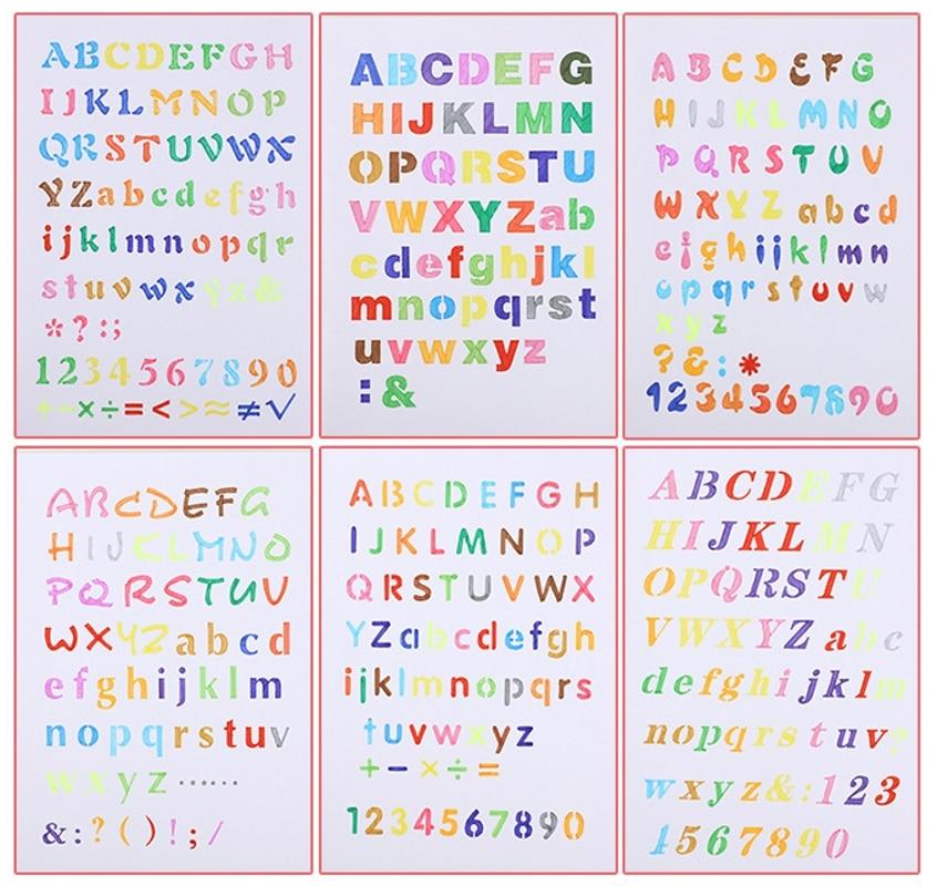 6Pcs/Set A4 26cm Alphabet English Letters DIY Layering Stencils Painting Scrapbook Coloring Embossing Album Decorative Template